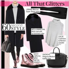 """""""60-Second Style: Glitter Sneakers"""" by martso on Polyvore"""