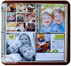 LOVE susan's use of the 6x6 page protector-- the collage of instagrams and the bit w/ the handwriting = PERFECTION.