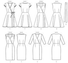 M6959 | Misses' Dresses and Belt | New Sewing Patterns | McCall's Patterns - NO circle skirt!  A-line or sheath only.