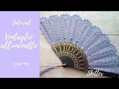 """tutorial: """"ventaglio all'uncinetto"""": prima parte - YouTube Crochet Cross, Crochet Home, Free Crochet, Knit Crochet, Crochet Diagram, Freeform Crochet, Thread Crochet, Crochet Designs, Crochet Patterns"""