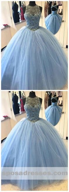Sale Trendy Dresses Ball Gown Delicate Light Sky Blue Quinceanera Dresses With Rhinestones Sheer O-Neck Tulle Puffy Ball Gown Sweet 16 Dresses Sweet Sixteen Dresses, Sweet 16 Dresses, Sweet Dress, Cute Dresses, 15 Dresses, Long Evening Gowns, Cheap Evening Dresses, Cheap Prom Dresses, Light Blue Quinceanera Dresses
