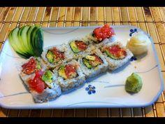 sushi como hacer rollo de atun picante o spicy tuna roll