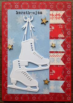 Card made by LindaCrea with Creatables Ice Skates (LR0247)