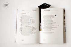 Marcador de pagina exclusivo com o desenho do bigode do escritor Fernando Pessoa.