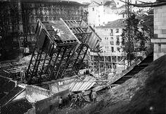 Derribo del antiguo viaducto de Bailén.1934.
