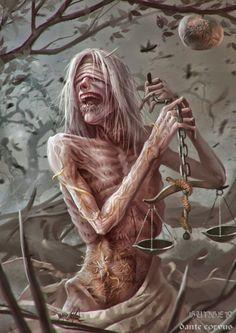 Famine - Four Horsemen of the Apocalypse by DanteCyberMan on DeviantArt Apocalypse Art, Horsemen Of The Apocalypse, Arte Horror, Horror Art, Creepy Art, Scary, Dark Fantasy, Fantasy Art, Angels And Demons