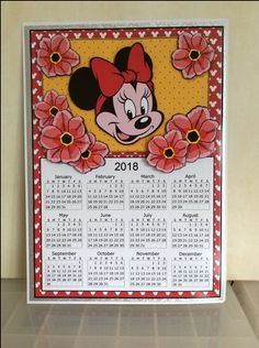2018 Minnie Calendar and Bookmarks 1 on Craftsuprint - View Now!