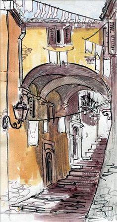 img069 Corfu Town, Corfu Island, Corfu Greece, Artists, Pictures, Painting, Photos, Painting Art, Paintings