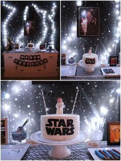 Girly Star Wars birthday party! See more party planning ideas at CatchMyParty.com!