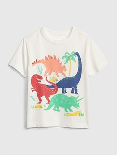 Garçons lot de 2 t shirts 1 à rayures /& 1 avec lion Roarsome détail