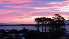 Pink skies over Lake Onoke by Finn