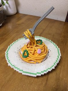 3D Spaghetti perler beads
