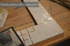 How To Make A Custom Tiled Mirror - The Stonybrook House Diy Mirror Frame Bathroom, Mirror Tiles, Tile Grout, Grouting, Babe Cave, Coastal Decor, Projects, Kitchen Tile, Tile Ideas