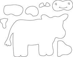 Cow - Felt Board Pattern