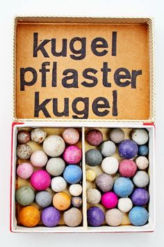 mano kellner, project 2014, wunderkammer nr 21, kugelpflaster  - sold - Art Boxes, Box Art, Little Boxes, Mixed Media Collage, Kugel, Easter Eggs, Rainbow, Inspire, Digital