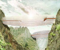 tedeschi + degni: parametric cloudbridge - designboom | architecture & design magazine