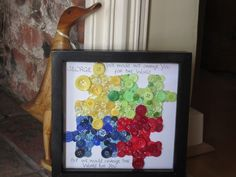 Fantastic Autism awareness button art!! Great idea! Check out 'Blinking Buttons' --- http://tipsalud.com -----