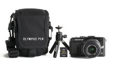 Olympus E-PL5 16MP Mirrorless Digital Camera Kit with 14-42mm lens, case, mini tripod, and memory card  (Black) * See this great product.