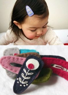 diy felt hair clips (not just for babies!)