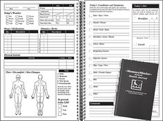 """$16.99  The Memory Minder Health Minder is an easy-to-use """"checklist format"""" health diary. It provides an organized and accurate way to track vitamins, herbs, medications, diet, exercise, symptoms, progress, and all the other factors that make up your personal health picture (even the weather)"""