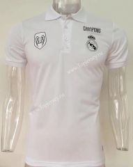 2017-18 Champions League Real Madrid White Thailand Polo Shirt 6d4bd96d23935