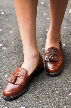 These loafers are pretty sweet, and they'll look less busy with age. Does anyone know who makes these?