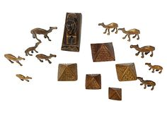 Egyptian Brass Camels, S/16 | One Kings Lane