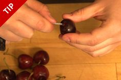 How to Pit a Cherry with a Paper Clip by chow.com #Cherry_{itter #Paperclip #chow_com