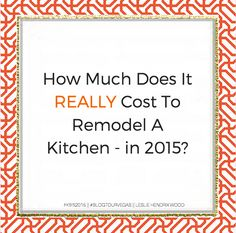 If you or anyone you know is planning a kitchen remodel, read this article and share! You will be doing yourself and your friends a great service, really! #KitchenRemodel #Renovation