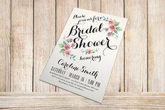 Printable Bridal Shower Invitation - Vintage Floral Invitation - Spring/Summer Bridal Shower. $15.00, via Etsy.