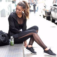 2016 Fitness Mesh Patchwork Sport Leggings
