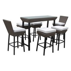 Have to have it. Napa All-Weather Wicker Patio Dining Set - $1100 @hayneedle.com