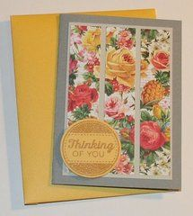 This card design is a great way to use extra pieces of patterned paper. Love the clean and simple design.