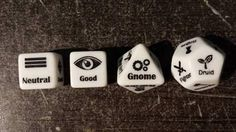 Character creation dice Dungeons and Dragons D&D or Pathfinder I want some of these dice! That could make for some fun writing exercises: toss out a couple rolls and write scenes with the resulting character types :) Tabletop Rpg, Tabletop Games, Pen & Paper, Rpg Map, Dnd Funny, Dungeons And Dragons Memes, Dragon Memes, Dnd Characters, Geek Culture