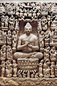 """""""Vision of a Buddha's Paradise."""" This sculpture is considered to be the finest example of 1st-7th Century Gandharan art ever found."""