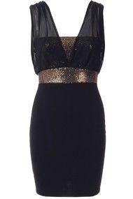 Rihanna Black Sequin Party Dress | Needthatdress.com