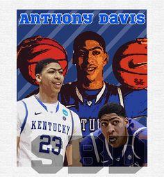 Anthony Davis University of Kentucky Digital Print. $15.00, via Etsy.