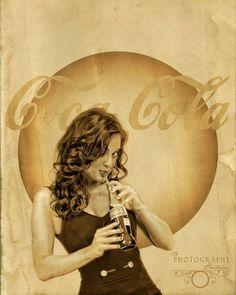 Retro vintage coca cola Pin Up girl