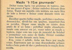 """As Receitas da Avó Helena e da Avó Eduarda: Maçãs """"à l'Eve gourmande"""""""