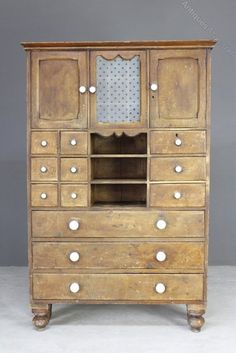 Small Antique Pine Kitchen Cupboard - Antiques Atlas Pine Kitchen, Pine Furniture, Cupboards For Sale, Kitchen Cupboards, Cupboard, Glazed Door, Cupboard Doors, Small, Victorian