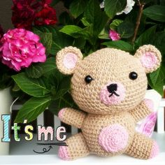 Amigurumi BOBO and Making – Belini of Two Words – Baby Utensils Ideas Tedy Bear, Baby Bike, My Teddy Bear, Baby Supplies, Free Pattern, Diy And Crafts, Handmade, Animals, Crocheting