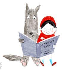 Illustrations enlivrantes - On est bien chez laurette Chez Laurette, Little Red Hood, Red Ridding Hood, Children's Book Illustration, Cute Art, Childrens Books, Illustrators, Book Art, Fairy Tales