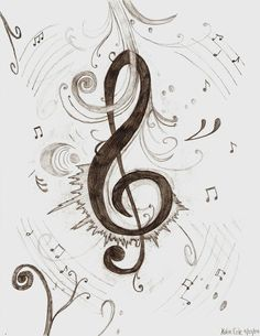 Treble Clef by Musical Art...