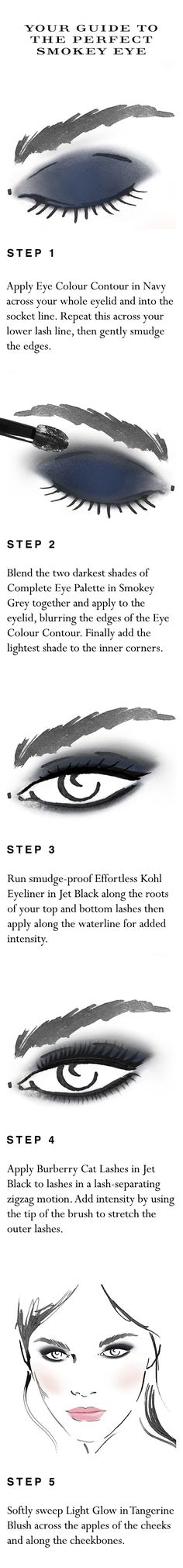 Your easy to follow make-up 'how to' for the perfect smokey eye in 15 minutes. Shop the complete look at Sephora.com and explore new Burberry Cat Lashes.