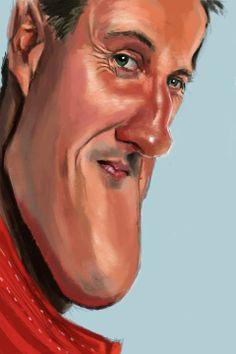 Michael #Shumacher by Antonio Pozo #Caricature