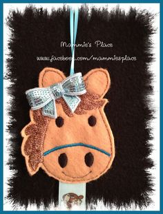 Horse Clip Keeper and or Hair Bow Holder by MammiesPlace on Etsy, $8.00