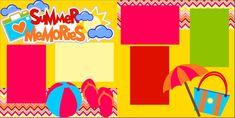 Summer Memories 12X12 Premade Scrapbook Page Kit or 12X12 Scrapbook Premade Layout by MemoriesByDezyn on Etsy