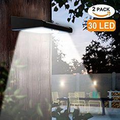 Best Solar Powered Security Lights Wireless Waterproof Motion Sensor Solar Light Outdoor Wall Light for Patio, Deck, Garden, Garage. Shed Lighting Ideas, Garage Lighting, Outdoor Wall Lighting, Outdoor Walls, Wireless Outdoor Lighting, Outdoor Decor, Best Outdoor Solar Lights, String Lights Outdoor, Solar Powered Security Light