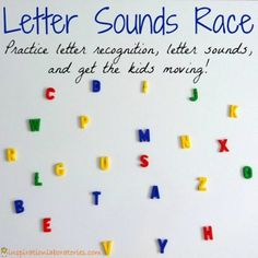 A Race to Learn Phonics - a fun way to get the kids moving and learning letter sounds!
