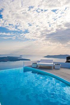 GREECE CHANNEL |  Caldera Pool in Imerovigli, Santorini